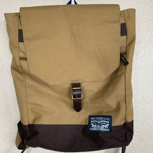 New Levi's solid canvas Backpack w/ laptop section